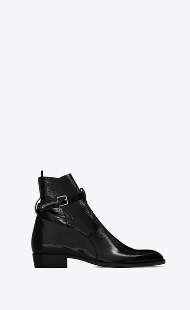 SAINT LAURENT Boots U Signature WYATT 30 Jodhpur Boot in Black a_V4