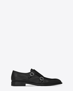 SAINT LAURENT Classic Shoes U ELI 25 Monk strap Shoe in Black f