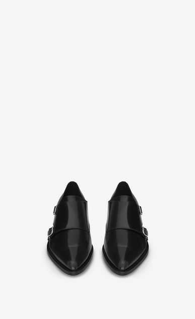 SAINT LAURENT Classic Shoes U ELI 25 Monk strap Shoe in Black b_V4