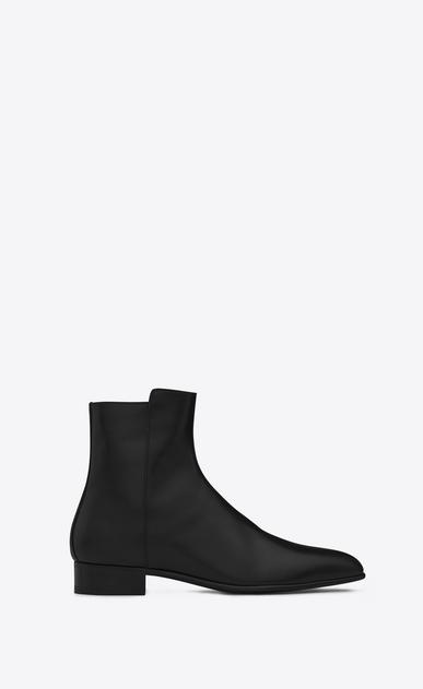 eli 25 zip boot in black leather