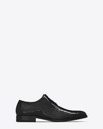 SAINT LAURENT Classic Shoes U MONTAIGNE 25 Derby Shoe in Black perforated patent leather f
