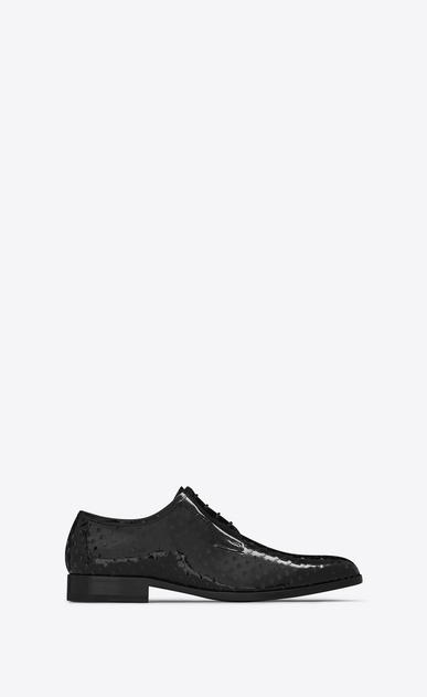 SAINT LAURENT Classic Shoes U MONTAIGNE 25 Derby Shoe in Black perforated patent leather v4