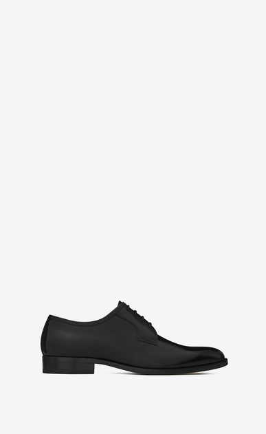 SAINT LAURENT Classic Shoes Man MONTAIGNE 25 Derby Shoe in Black leather a_V4