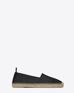 SAINT LAURENT Casual Shoes U MONOGRAM ESPADRILLE in Black leather f