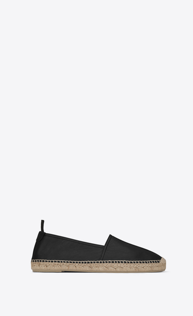 SAINT LAURENT Casual Shoes Homme espadrille en cuir noir a_V4
