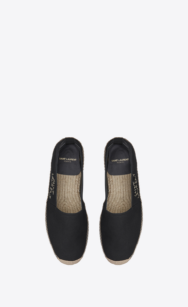 SAINT LAURENT Casual Shoes Man SAINT LAURENT ESPADRILLE in Black canvas b_V4