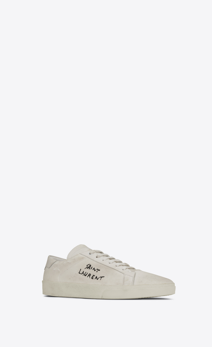 Sneakers for Women On Sale, Cream, Fabric, 2017, 2.5 3 3.5 4 4.5 5.5 6 Saint Laurent