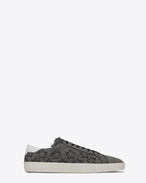 SAINT LAURENT SL/06 U signature court classic sl/06 california sneaker in washed grey cotton f