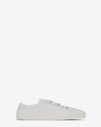 SAINT LAURENT Low Top Sneakers U flacher Rivington Sneaker in optischem Weiß f