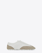 SAINT LAURENT Low Top Sneakers U LOU Low Top Sneaker in White and Grey f