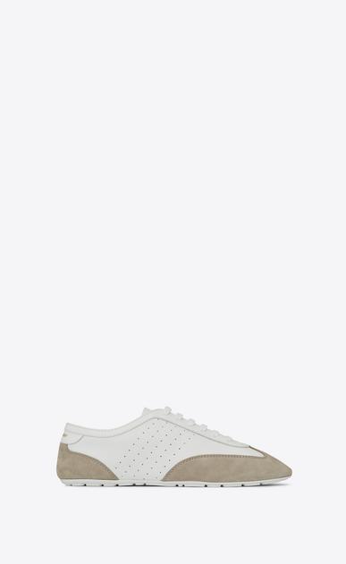 SAINT LAURENT Low Top Sneakers U LOU Low Top Sneaker in White and Grey v4