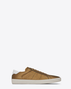 SAINT LAURENT SL/06 U Signature COURT CLASSIC SL/06 Sneaker in Bronze and Optic White f
