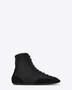 SAINT LAURENT High top sneakers U LOU High Top Sneaker in Black f