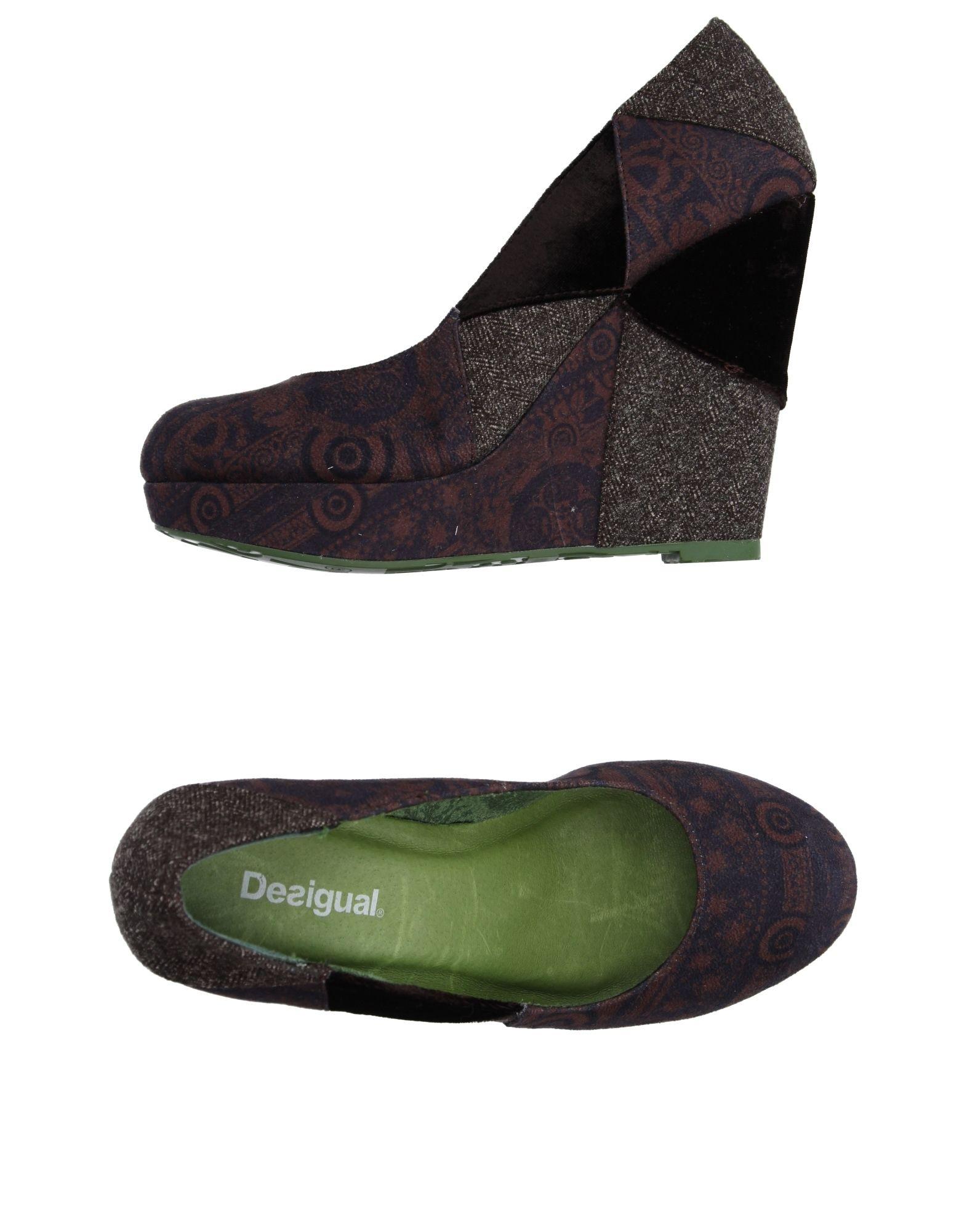 《送料無料》DESIGUAL レディース パンプス ダークブラウン 36 紡績繊維