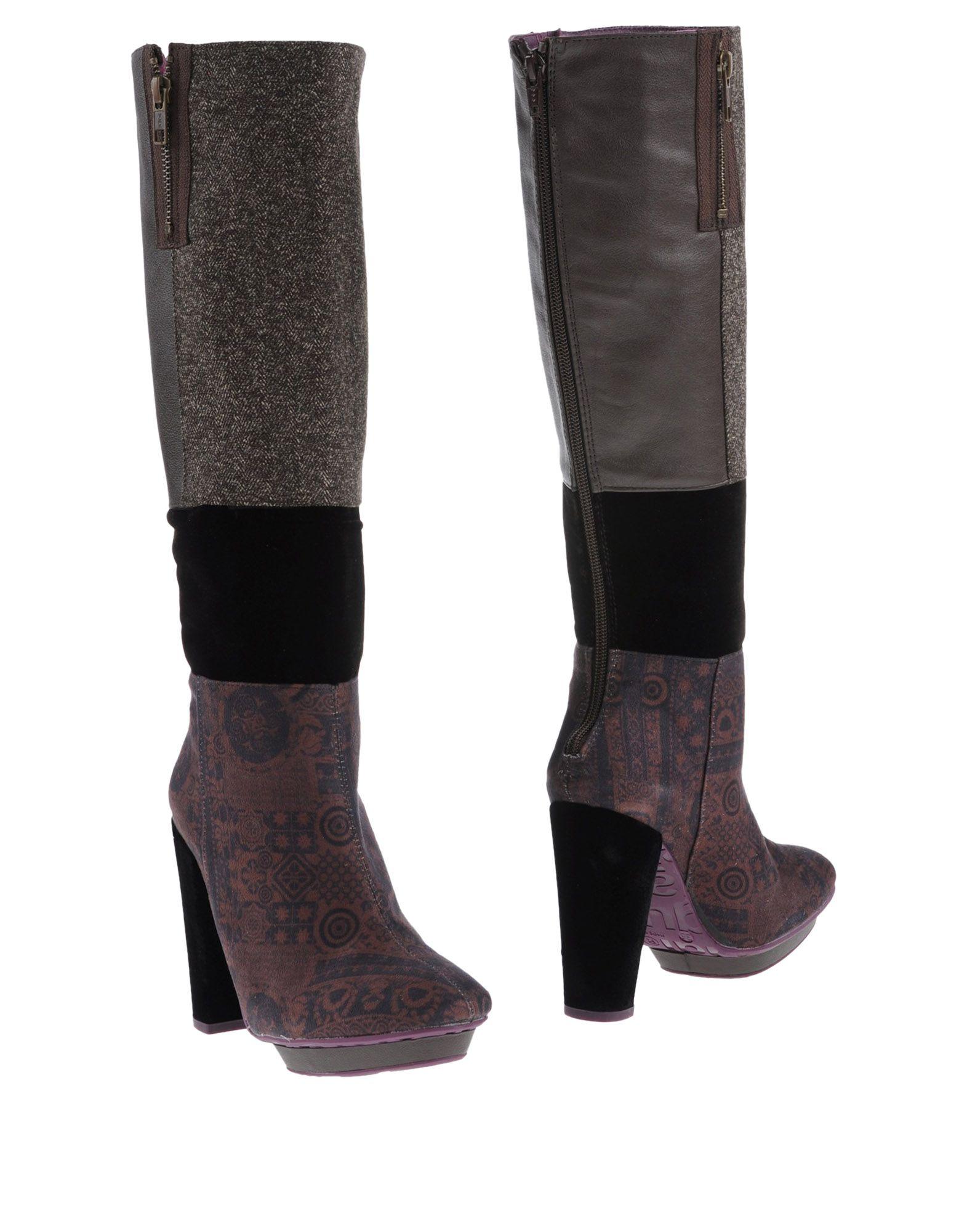 《送料無料》DESIGUAL レディース ブーツ カーキ 36 紡績繊維