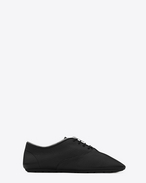 SAINT LAURENT Trainers D VERNEUIL 05 RICHELIEU Sneaker in Black grained leather f