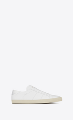 Saint Laurent Sl 06 Court Sneakers In Optic White