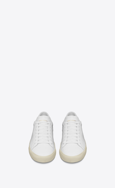 SAINT LAURENT Trainers D sl/06 court classic sneakers in optic white leather b_V4