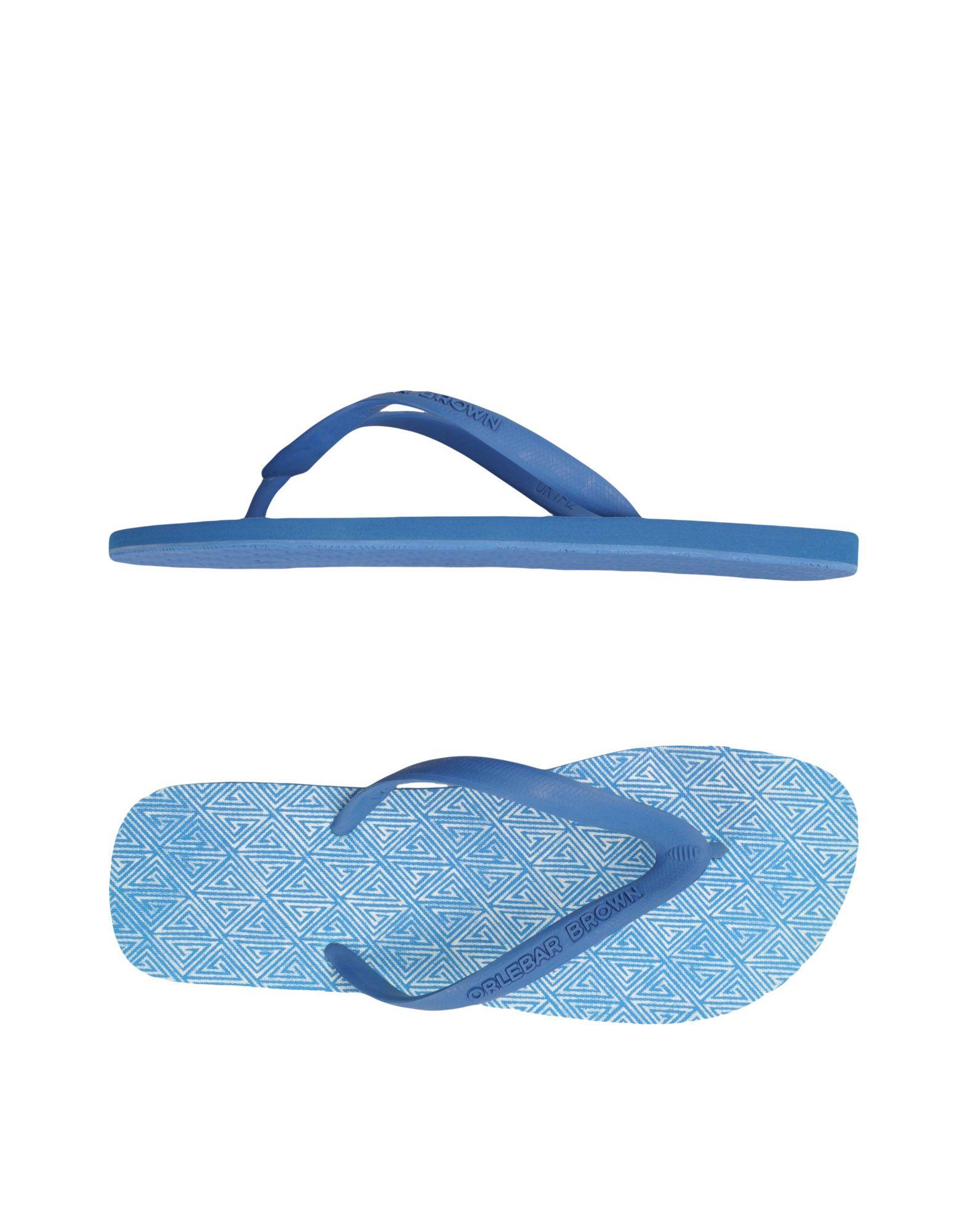 ORLEBAR BROWN メンズ トングサンダル ブルー 12 ゴム