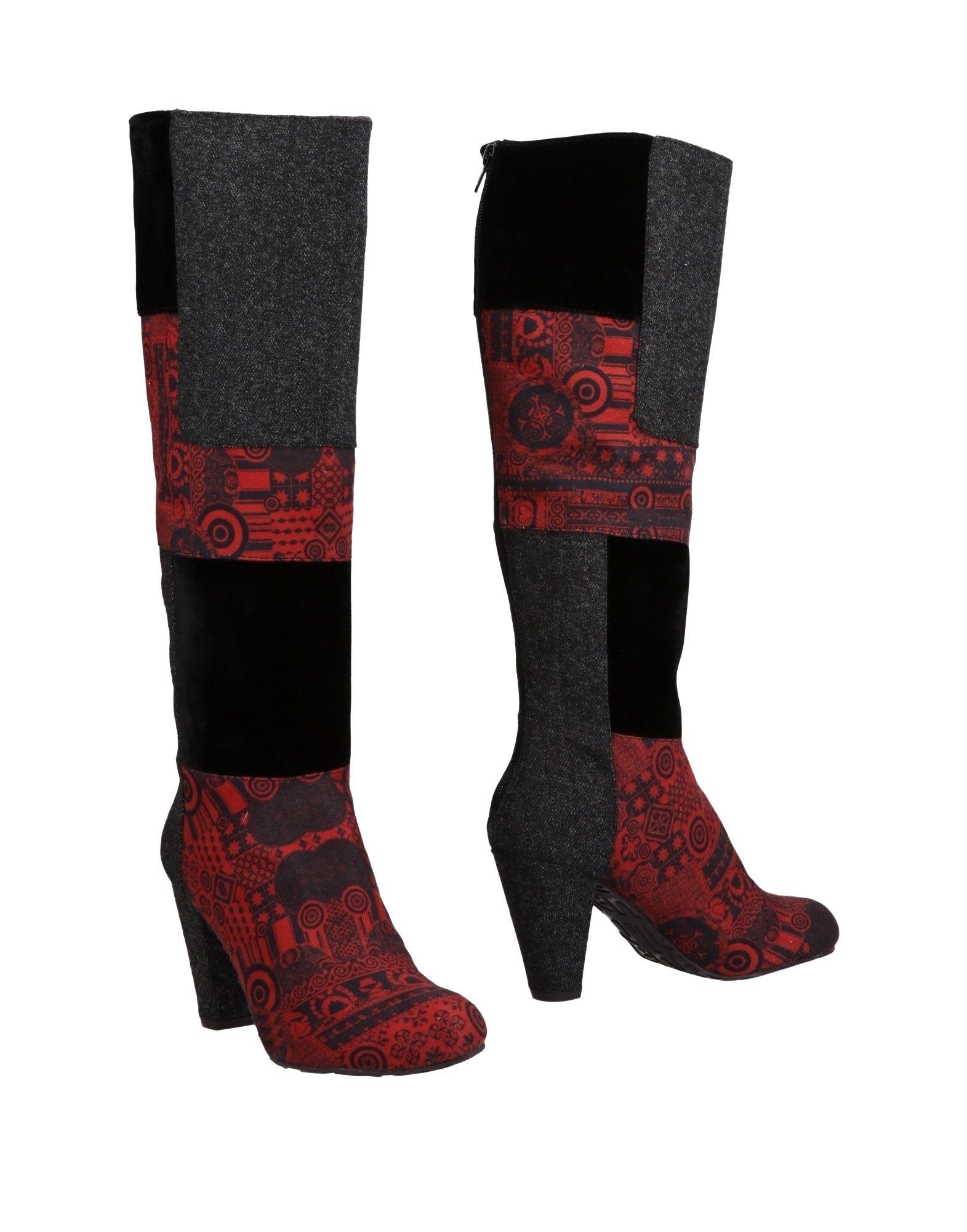 《送料無料》DESIGUAL レディース ブーツ レッド 40 紡績繊維