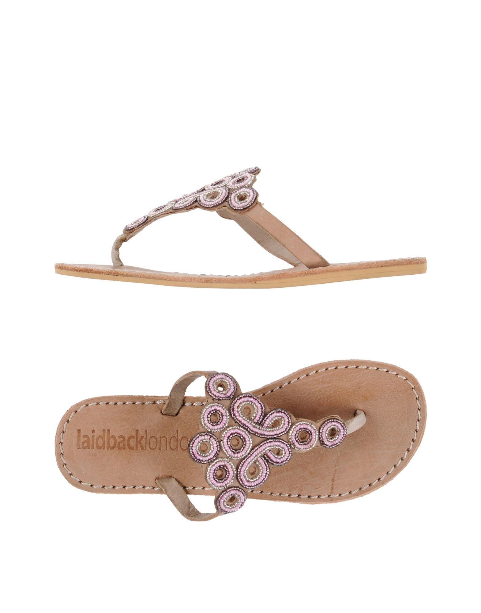 LAIDBACK LONDON Toe Strap Sandals in Pink