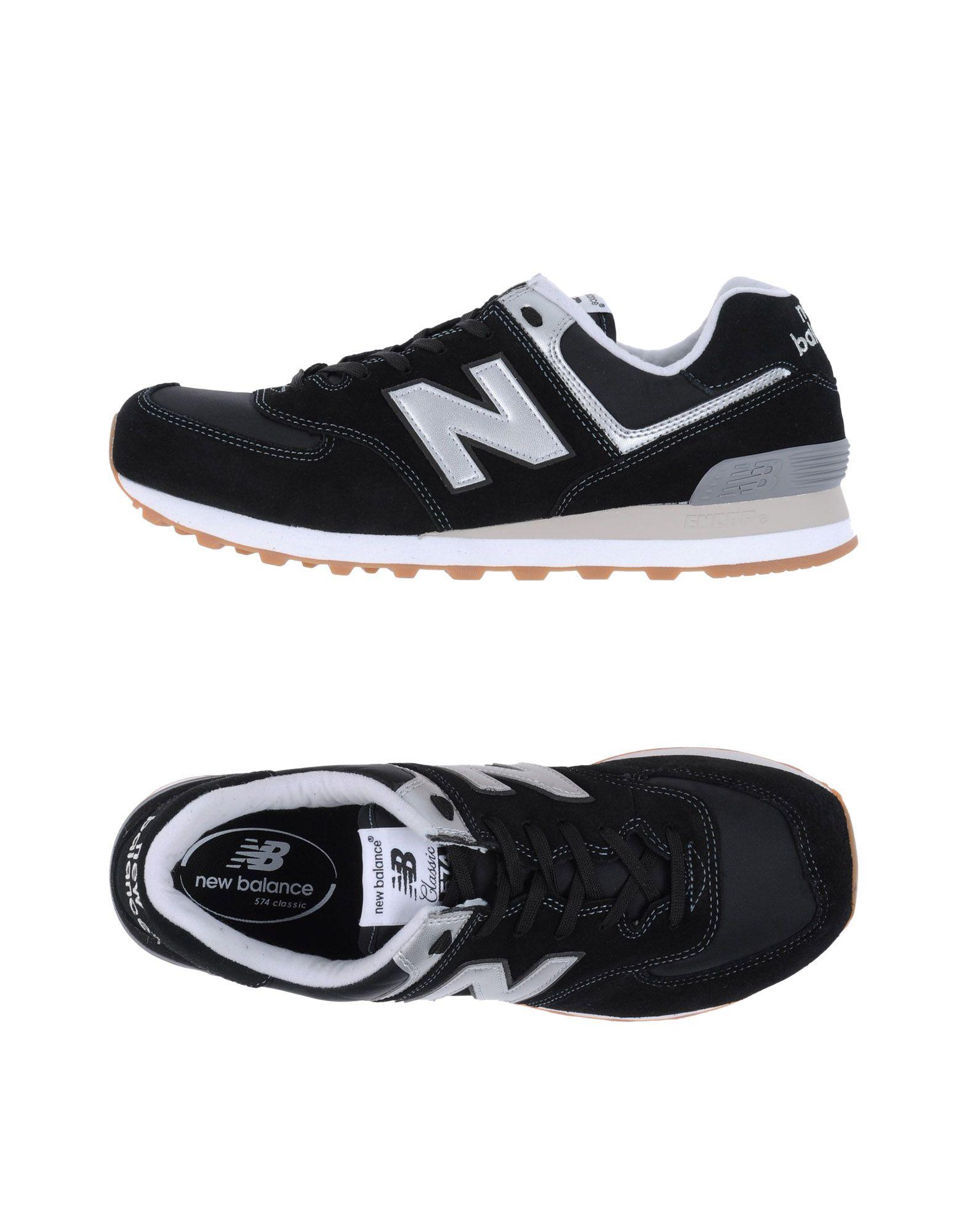 NEW BALANCE Herren Low Sneakers & Tennisschuhe Farbe Schwarz Größe 9
