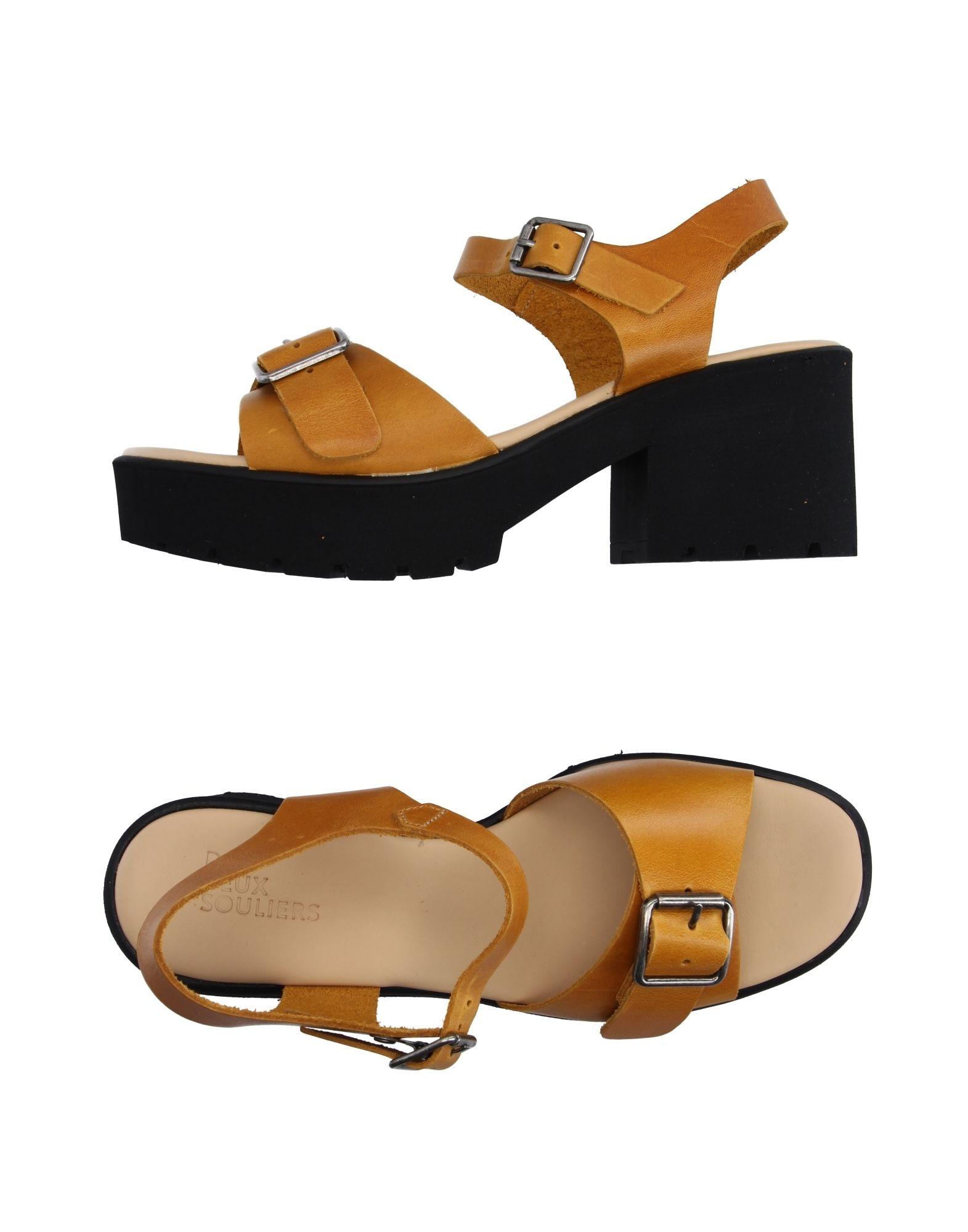 DEUX SOULIERS Damen Sandale Farbe Ocker Größe 9