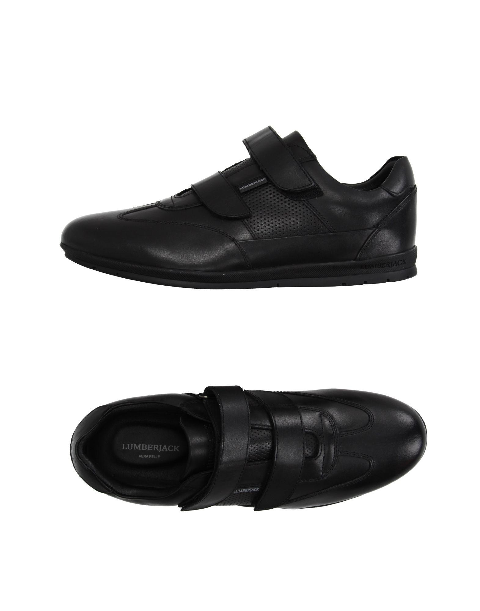 LUMBERJACK Herren Low Sneakers & Tennisschuhe Farbe Schwarz Größe 7 jetztbilligerkaufen