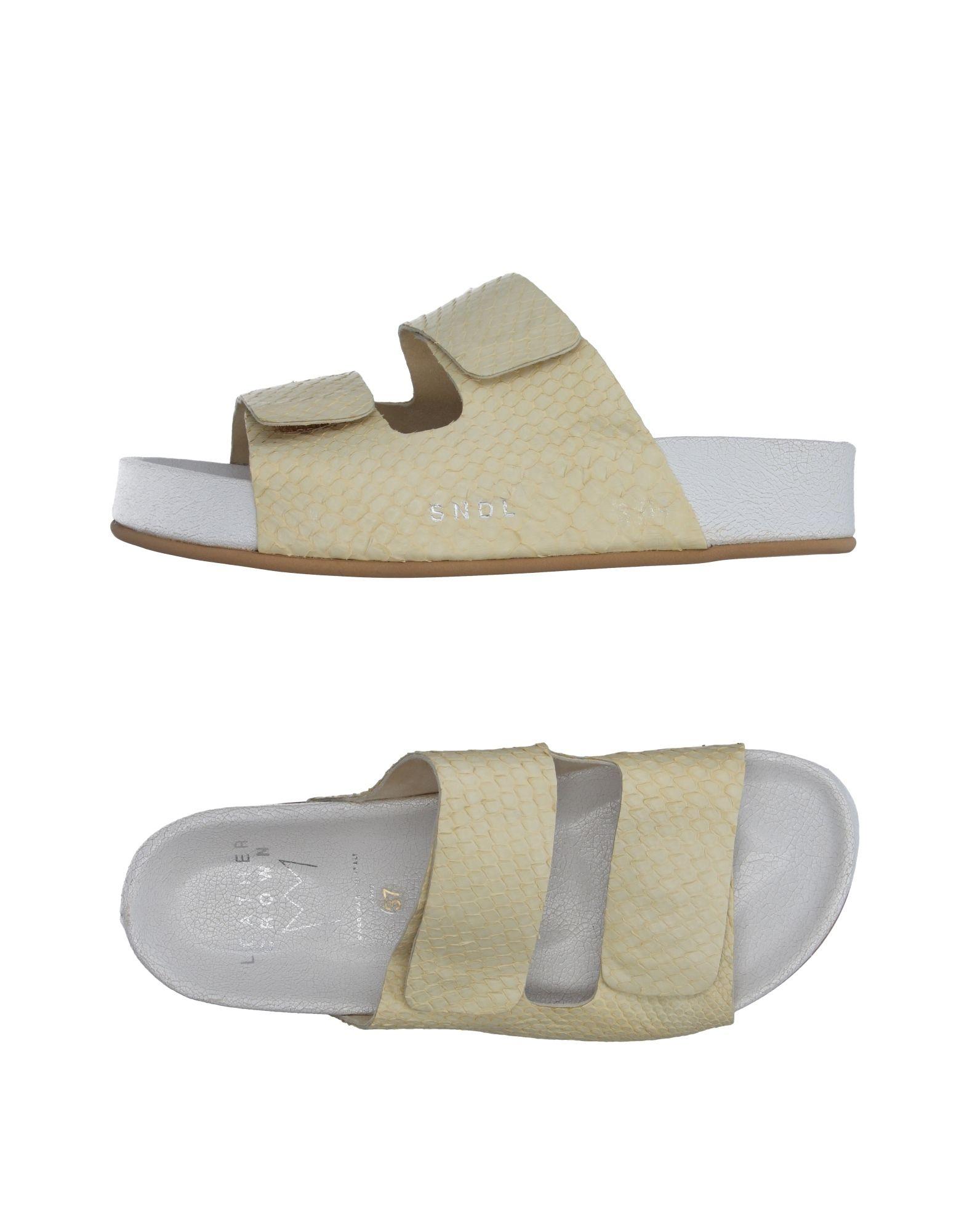 LEATHER CROWN Damen Sandale Farbe Hellgelb Größe 9 jetztbilligerkaufen