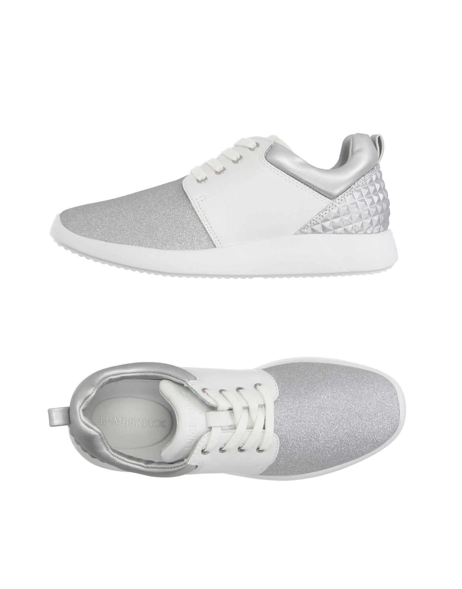 LUMBERJACK Damen Low Sneakers & Tennisschuhe Farbe Silber Größe 9 jetztbilligerkaufen