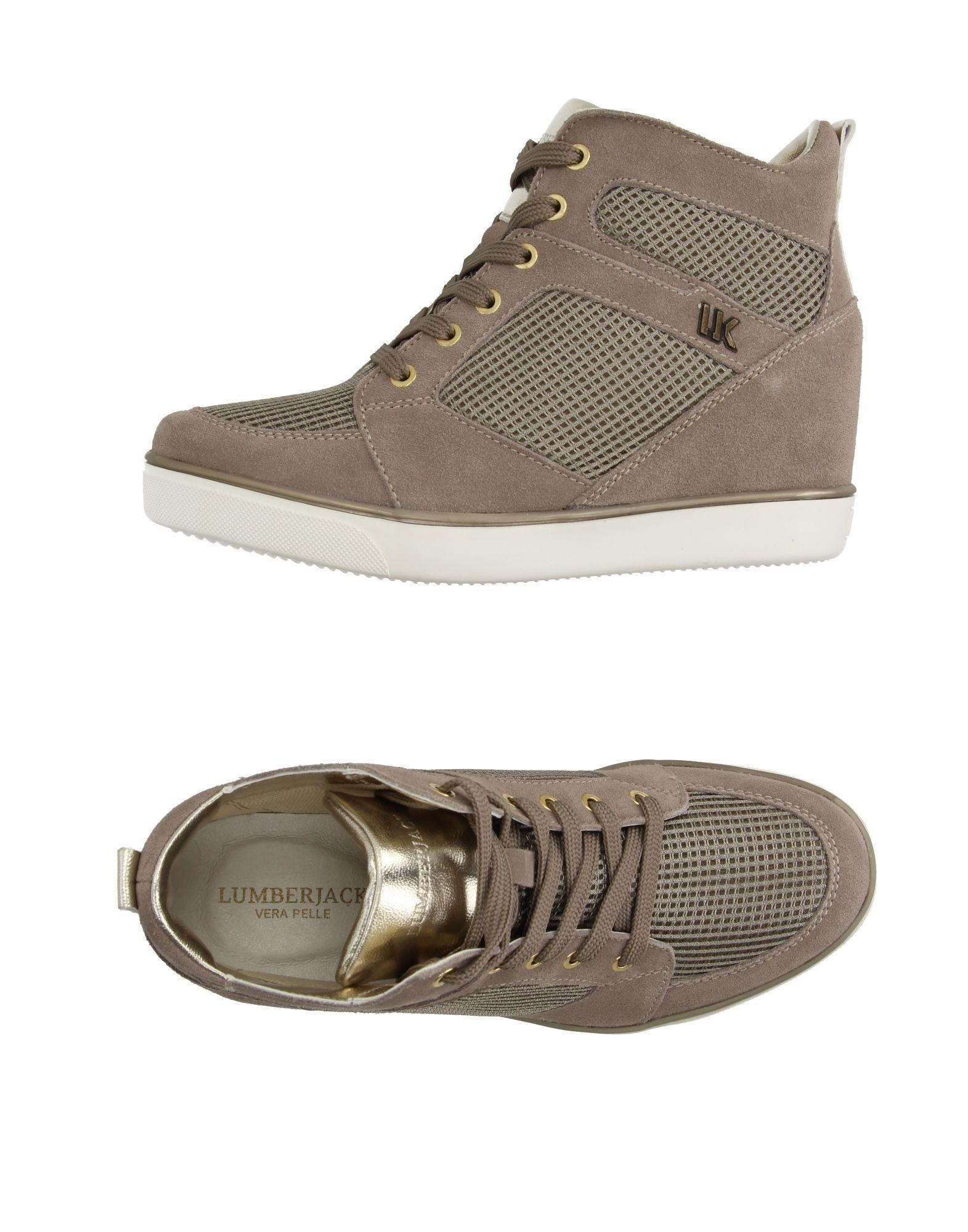 LUMBERJACK Damen High Sneakers & Tennisschuhe Farbe Hellbraun Größe 5 jetztbilligerkaufen