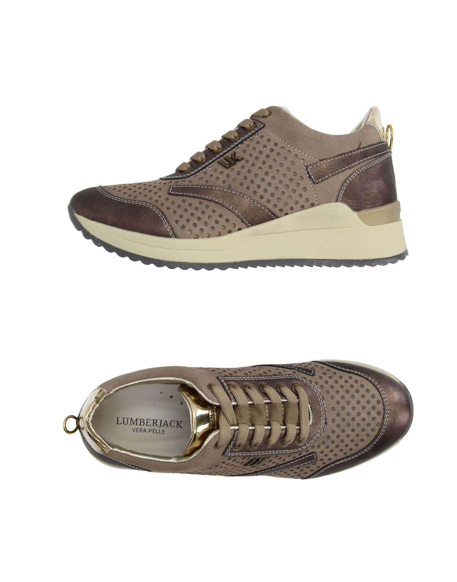 LUMBERJACK Damen Low Sneakers & Tennisschuhe Farbe Khaki Größe 5 jetztbilligerkaufen