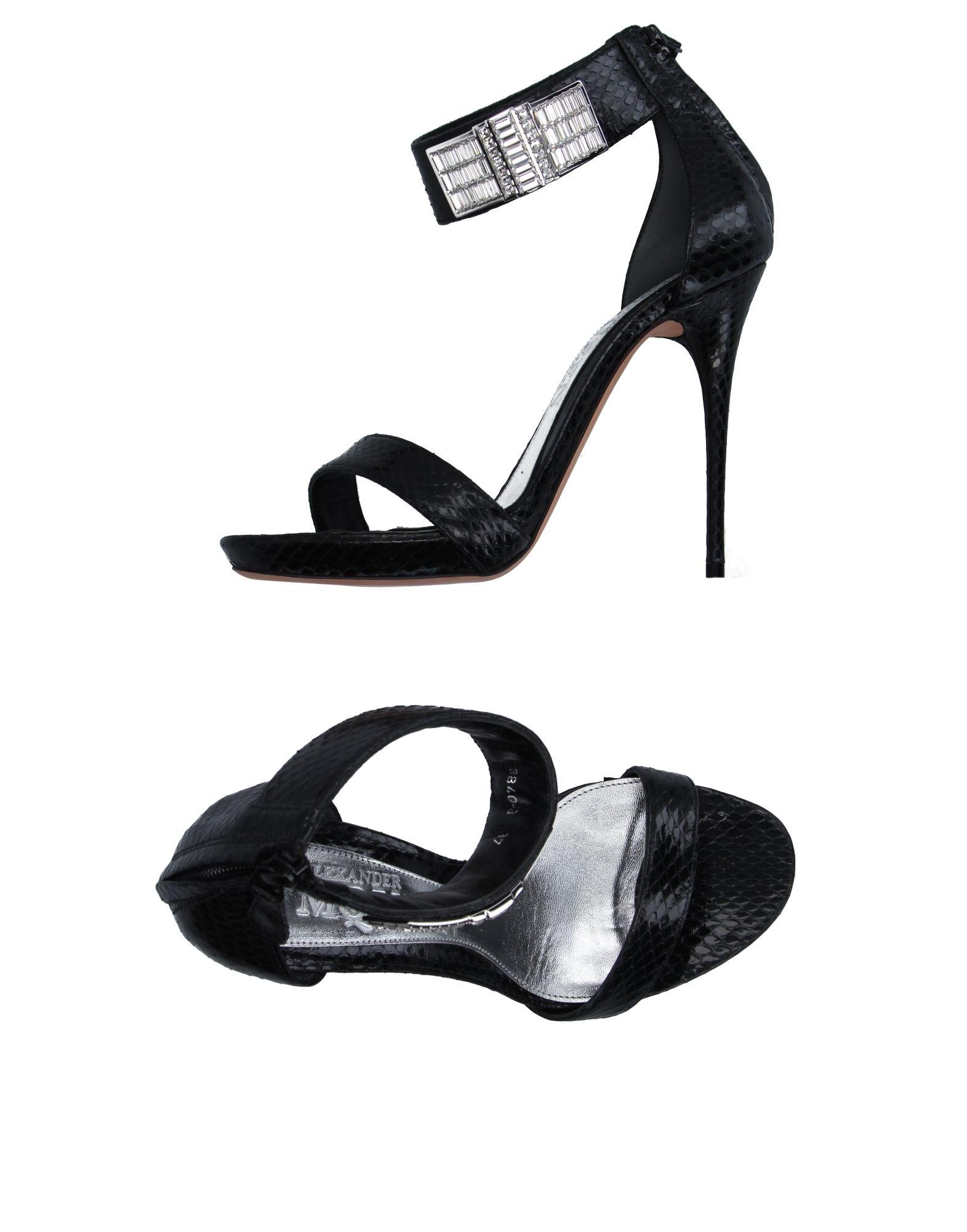 ALEXANDER MCQUEEN Damen Sandale Farbe Schwarz Größe 13 jetztbilligerkaufen