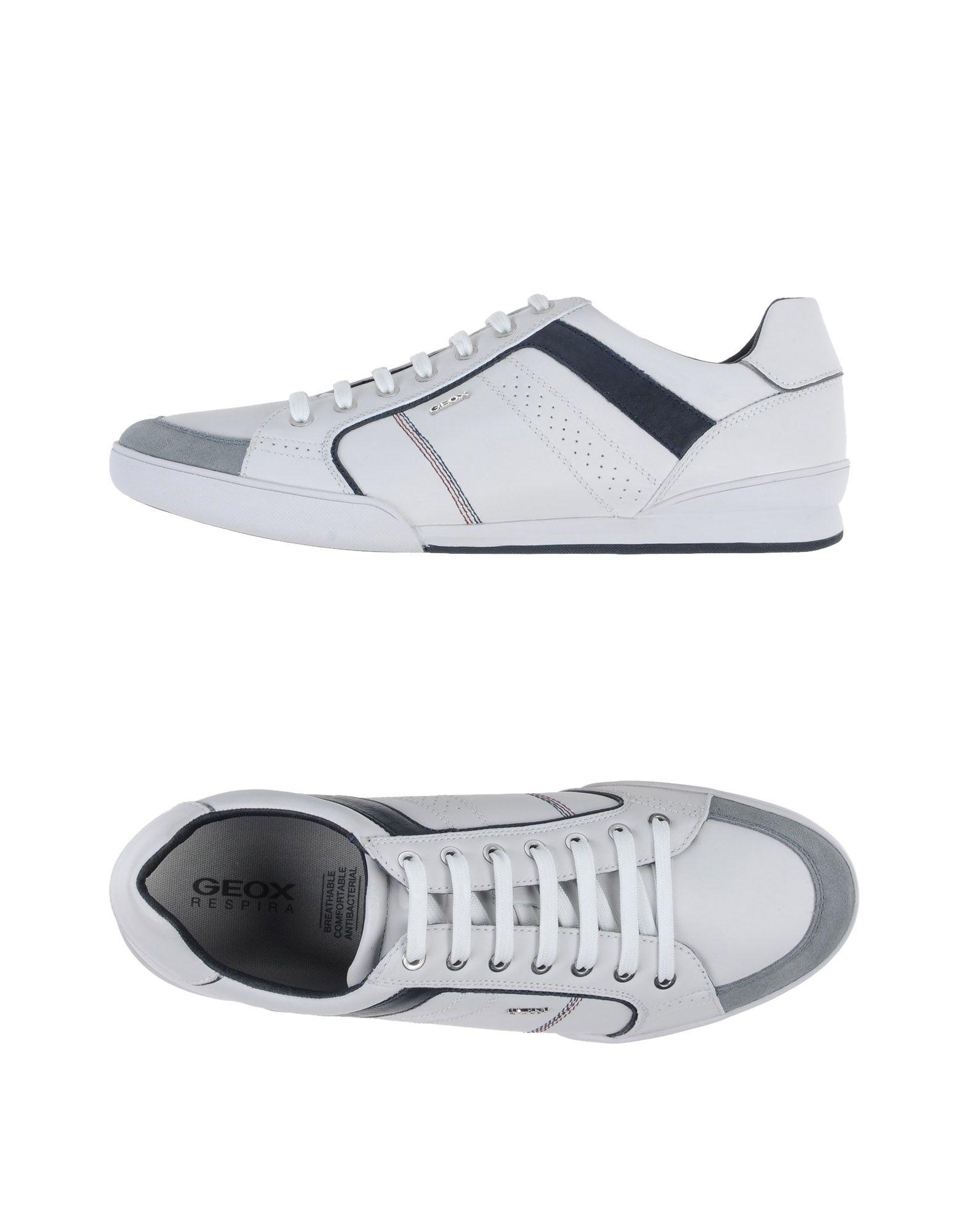 GEOX Herren Low Sneakers & Tennisschuhe Farbe Weiß Größe 9