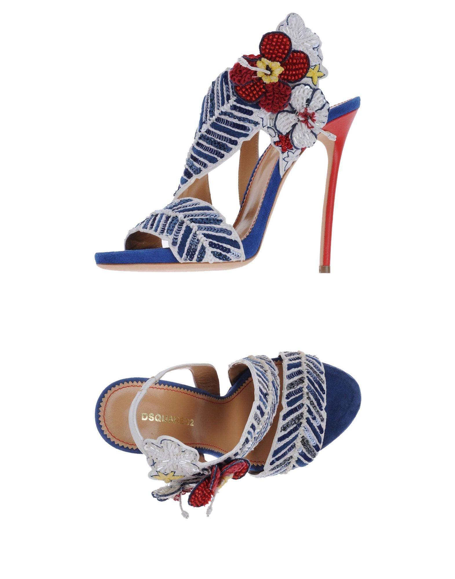 DSQUARED2 Damen Sandale Farbe Blau Größe 7 jetztbilligerkaufen