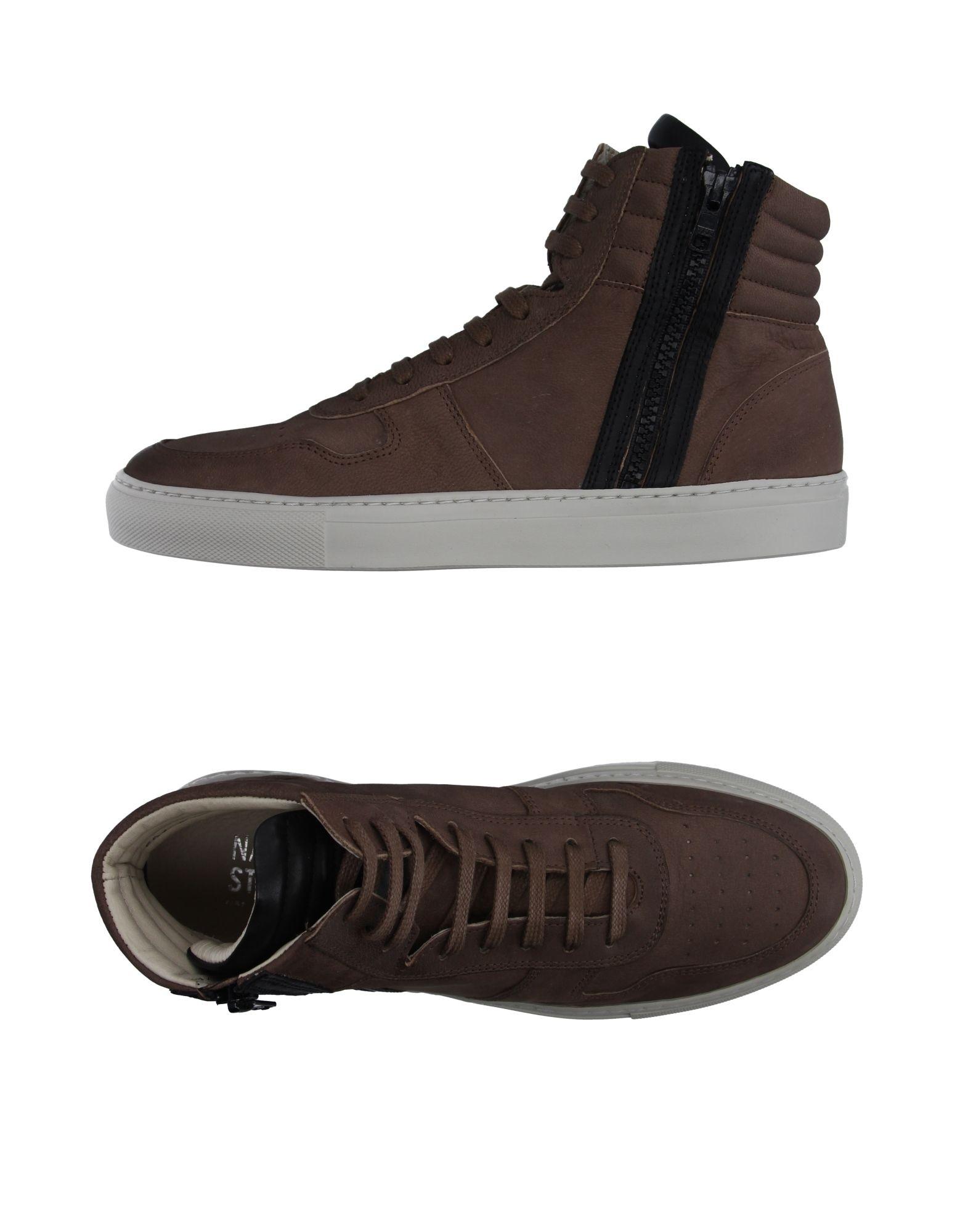 NATIONAL STANDARD Herren High Sneakers & Tennisschuhe Farbe Khaki Größe 5 jetztbilligerkaufen