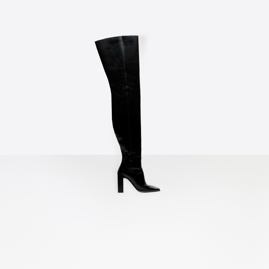 BALENCIAGA Square Over-the-knee Boots Square shoes D f