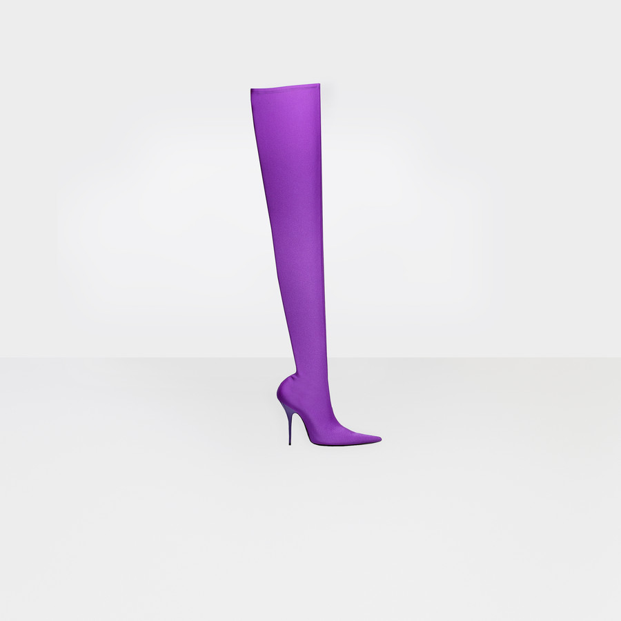 BALENCIAGA Knife Over-the-knee Boots Looks Shoes D f