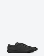 SAINT LAURENT Low Sneakers U sneaker sl/01 en cuir noir f