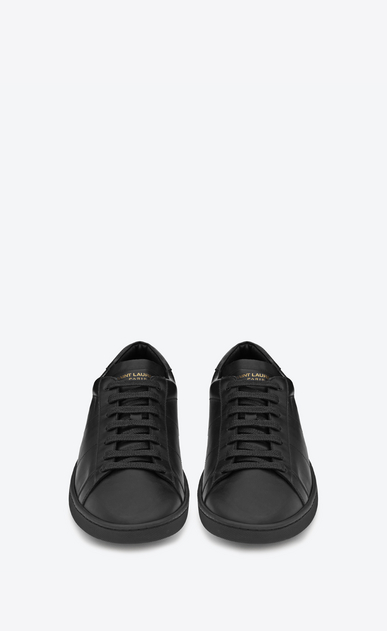 SAINT LAURENT Low Sneakers U sneaker sl/01 en cuir noir b_V4