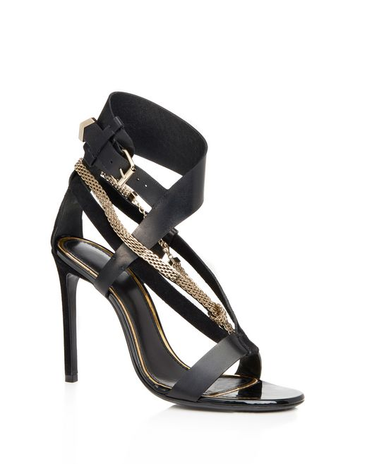 lanvin sandal with chain strap women