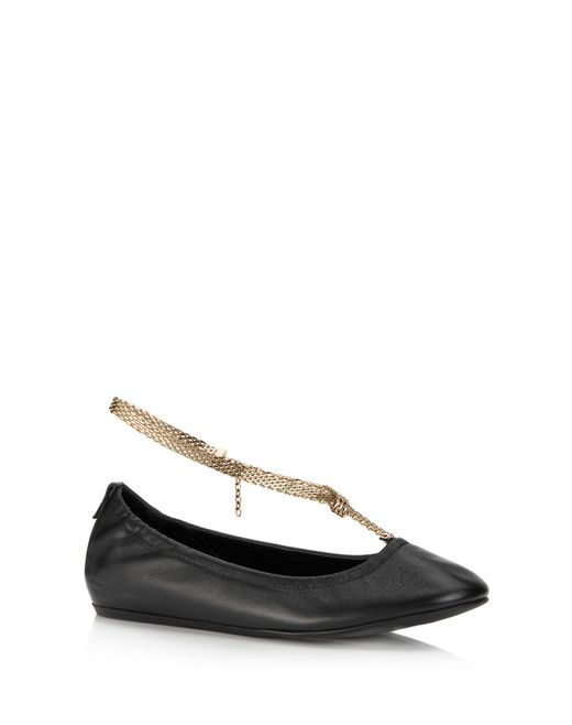 lanvin ballet flat with chain strap women