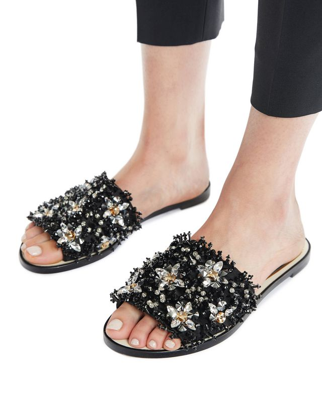 LANVIN EMBROIDERED MULE Sandals D e