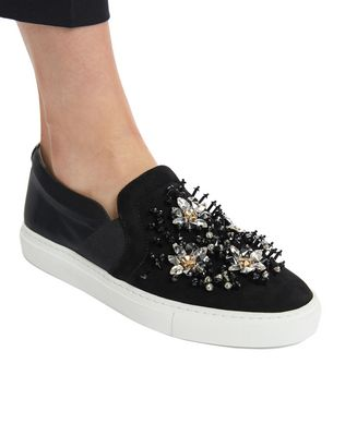 LANVIN EMBROIDERED SLIP-ON Sneakers D e