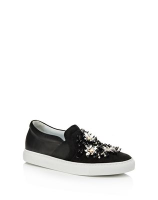 LANVIN EMBROIDERED SLIP-ON Sneakers D f
