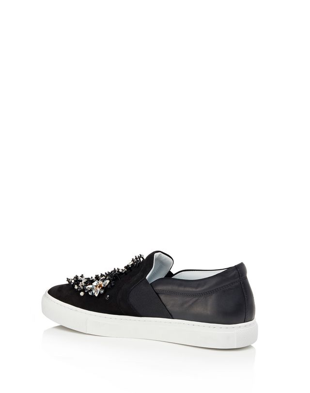 LANVIN EMBROIDERED SLIP-ON Sneakers D d