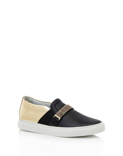 lanvin slip-on sneaker with chain women
