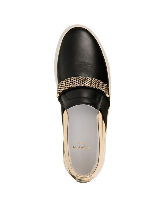 lanvin slip-on with chain women