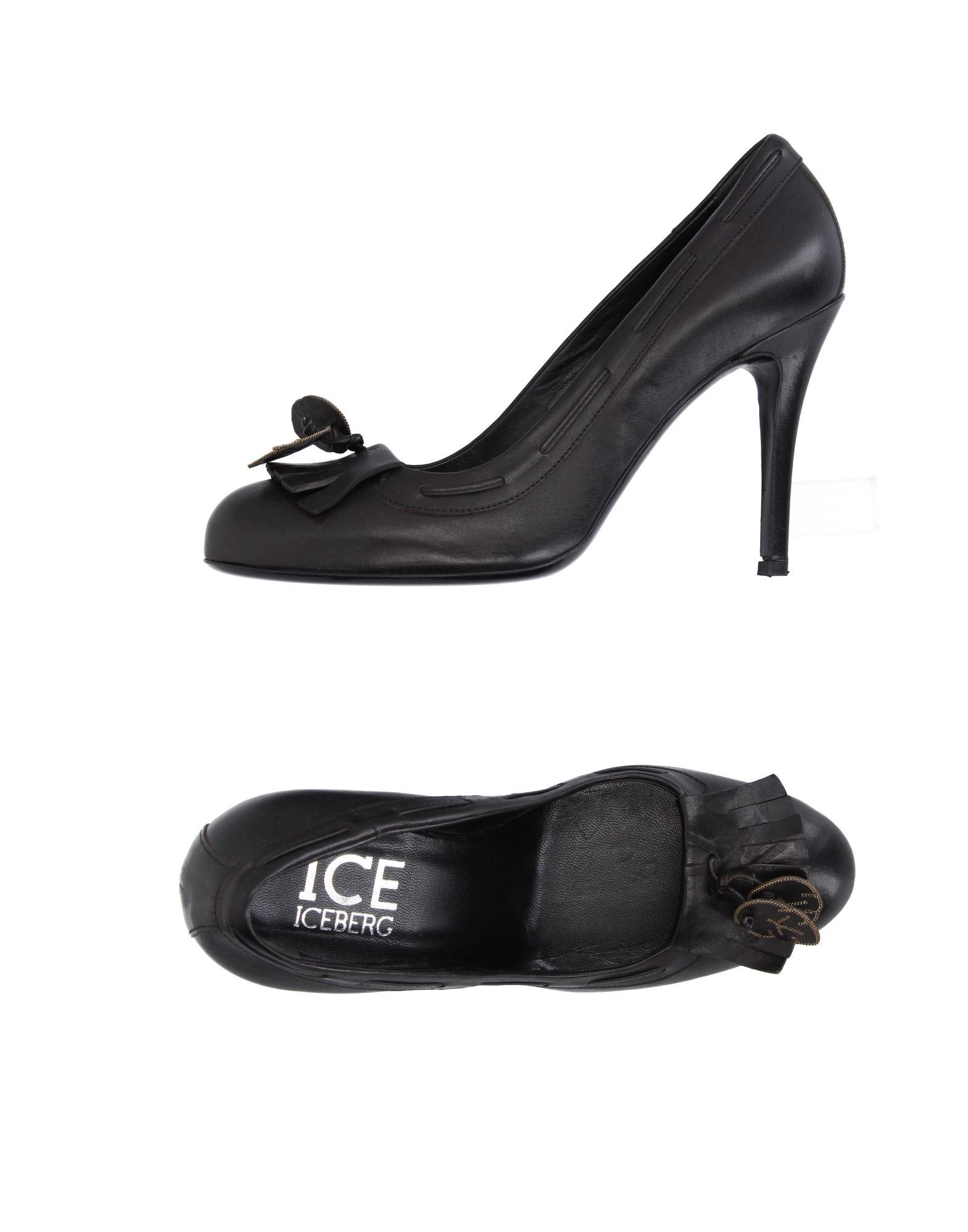 《送料無料》ICE ICEBERG レディース パンプス ブラック 40 革