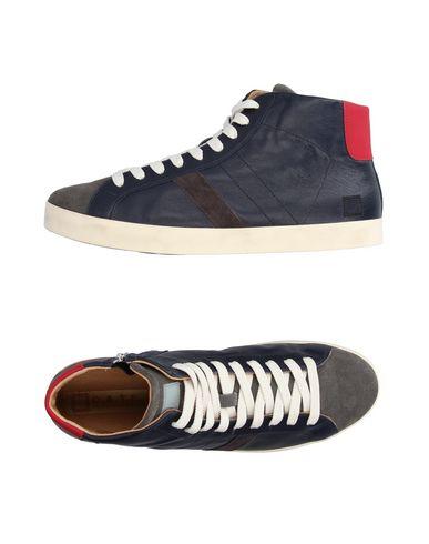 Фото - Высокие кеды и кроссовки от D.A.T.E. темно-синего цвета